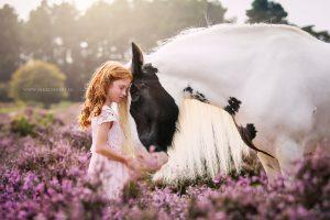 Fotoshoot met paard in dromerige sfeer