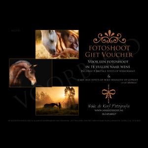 Cadeaubon fotoshoot paard pakket basic