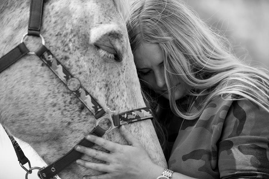 Voorbeeld afscheidsfotoshoot met paard