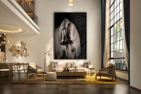 Voorbeeld equine fine-art paardenfotografie kunstwerk muur